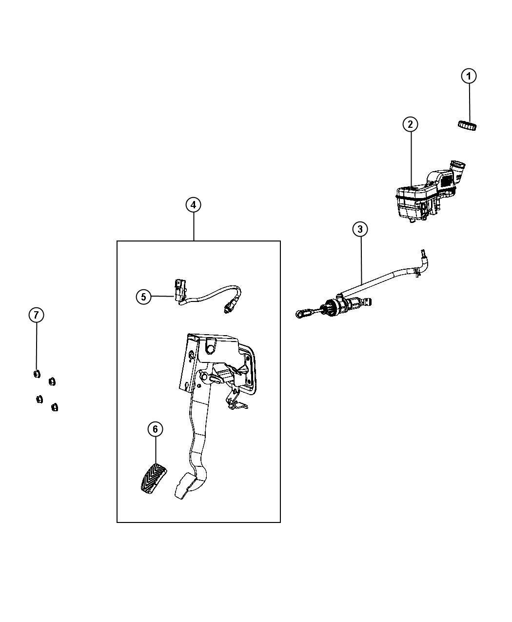 Dodge Caliber Switch. Clutch starter interlock. [5-speed