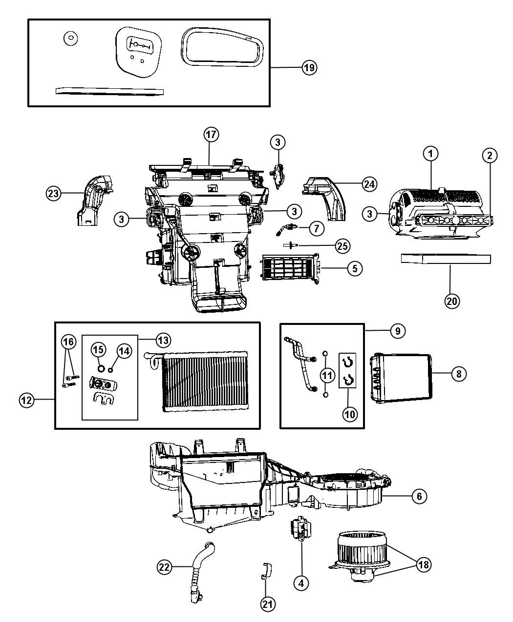 2011 Jeep Grand Cherokee Gear. Actuator. Panel, instrument