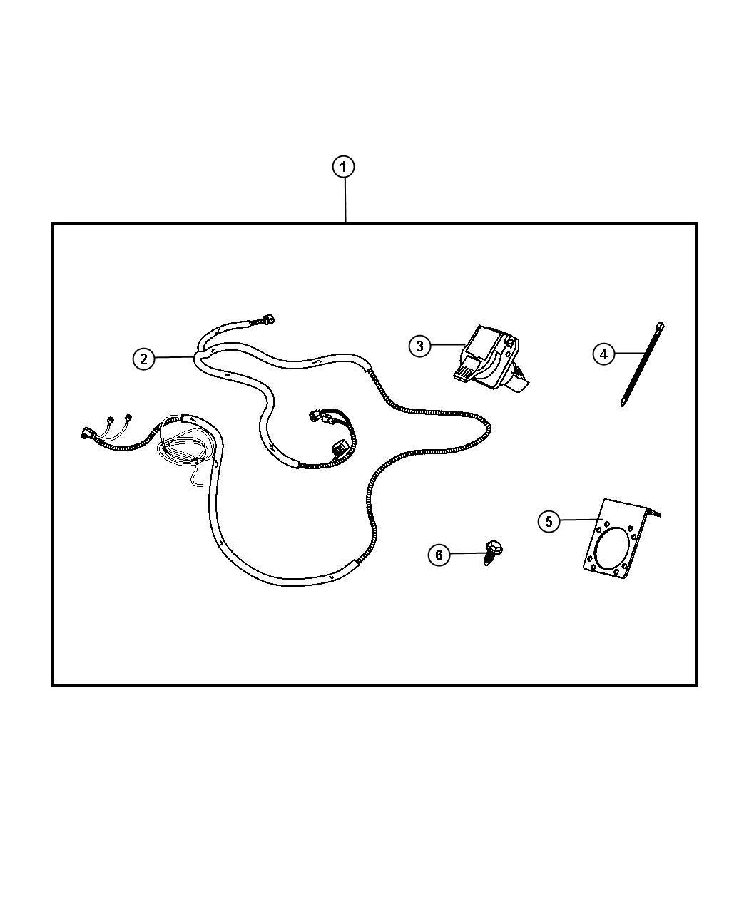 Jeep Wrangler Connector 7 Way