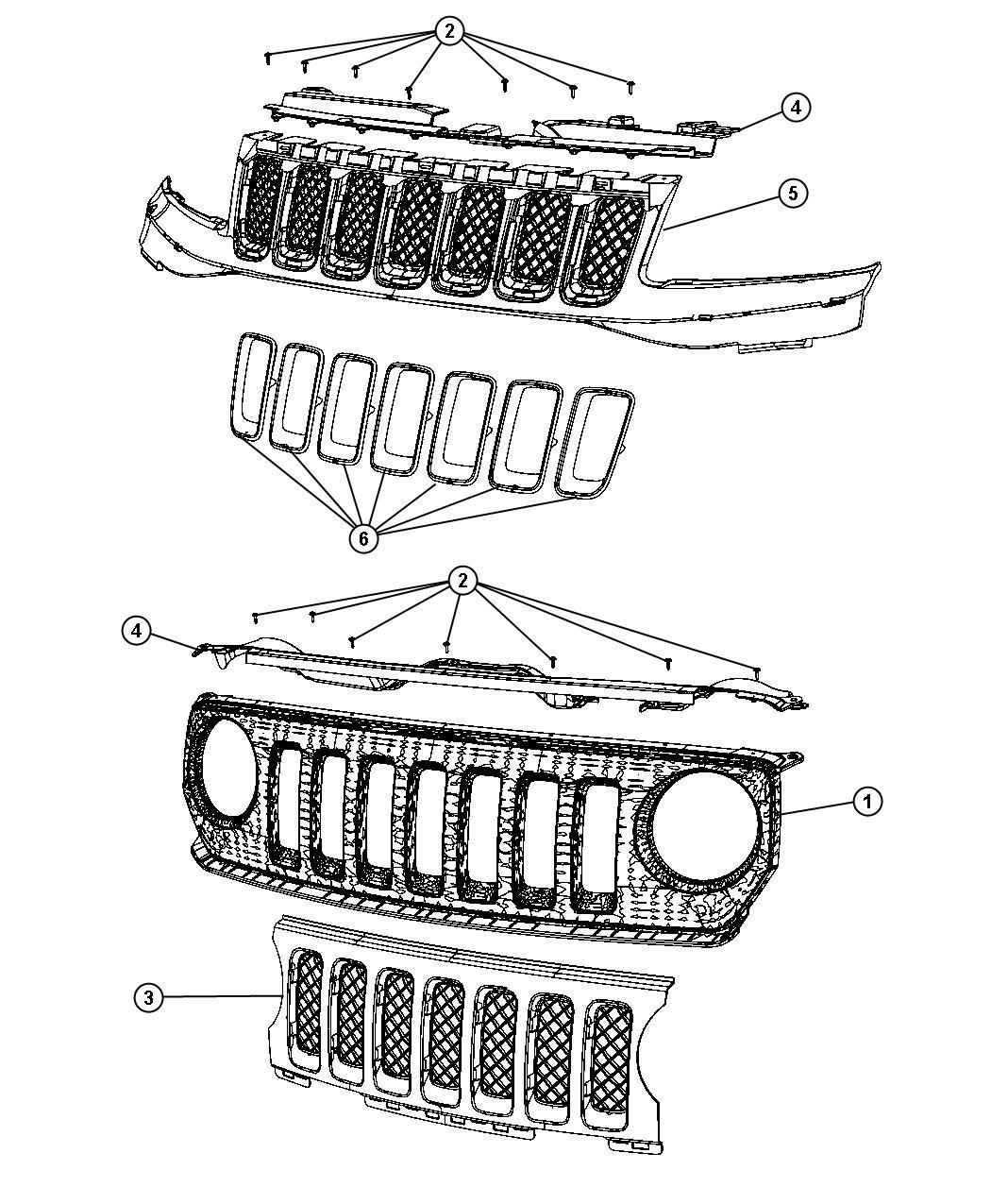 2011 Jeep Patriot Grille. Radiator. Color, body, fascias