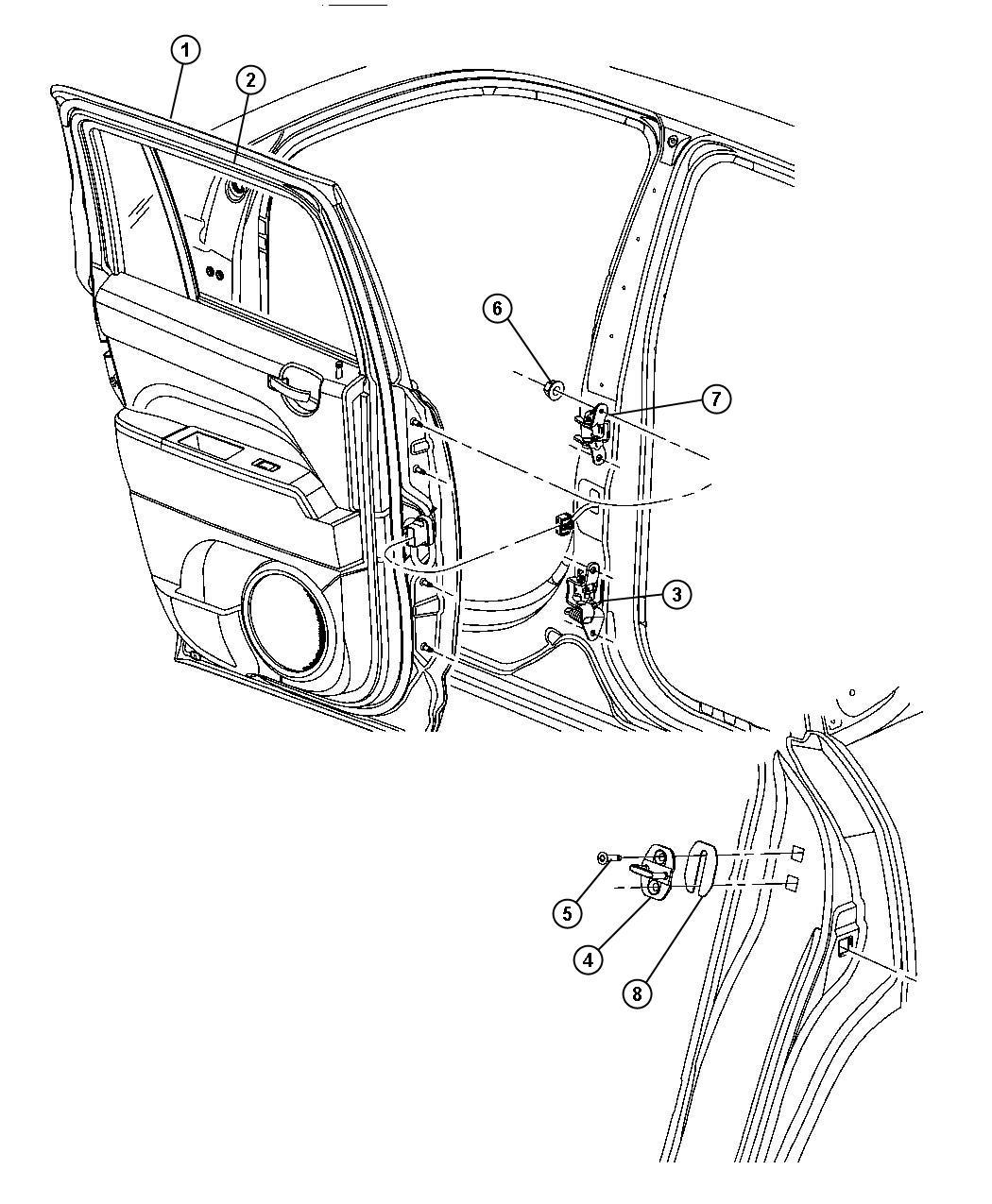 2011 Jeep Patriot Panel. Rear door outer. Left