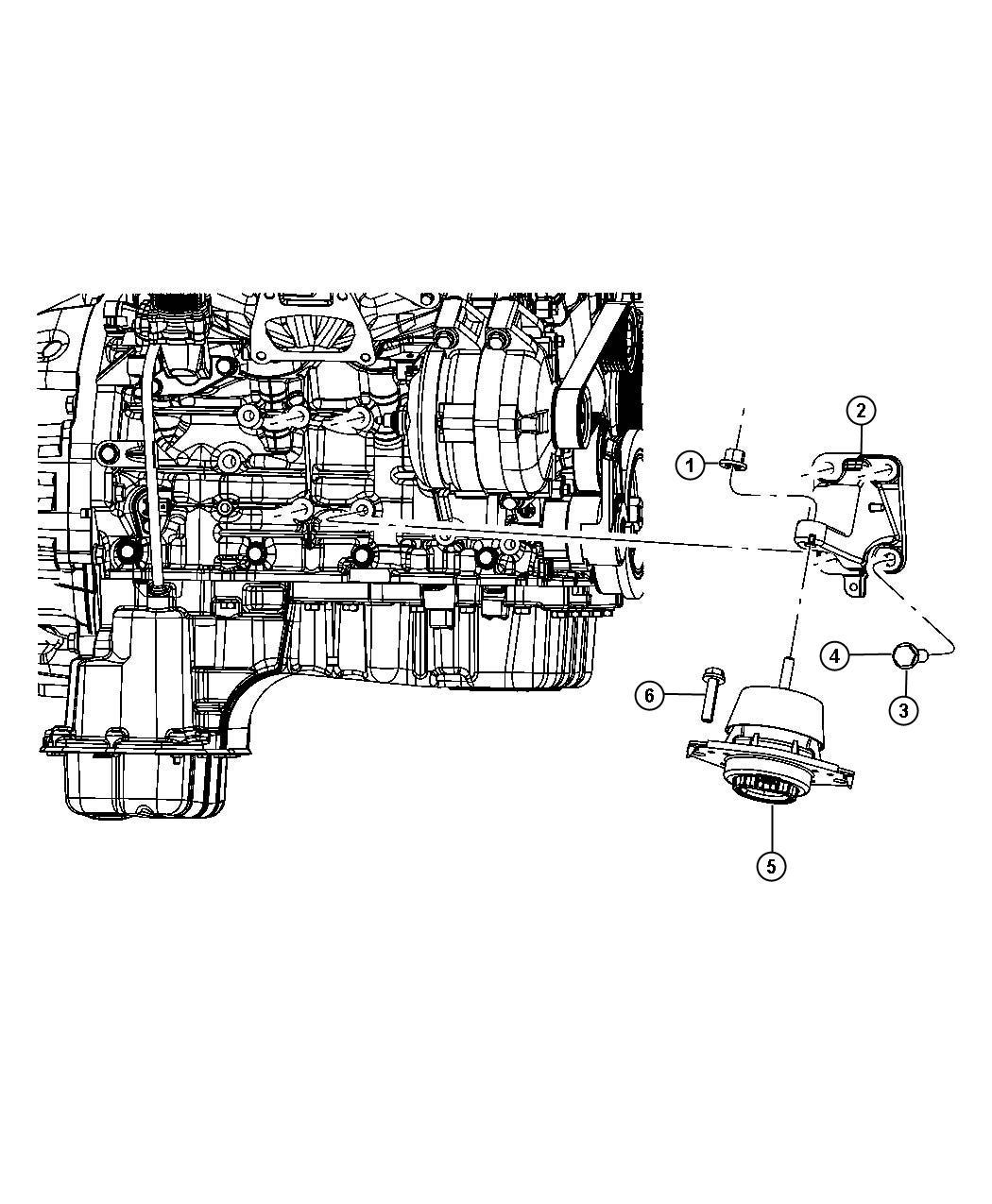 Dodge Durango Isolator. Engine mount. Left side, right