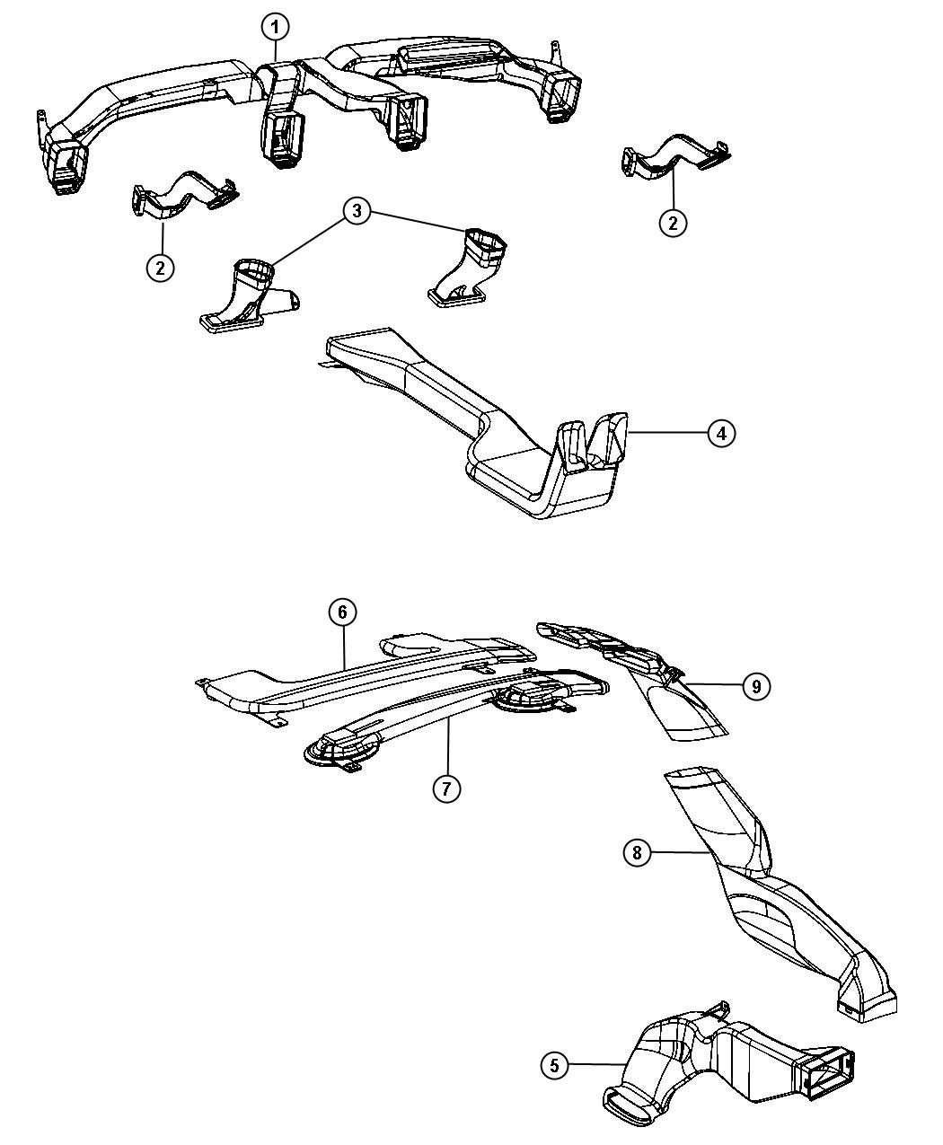Dodge Duct Air Outlet Distribution Ducts