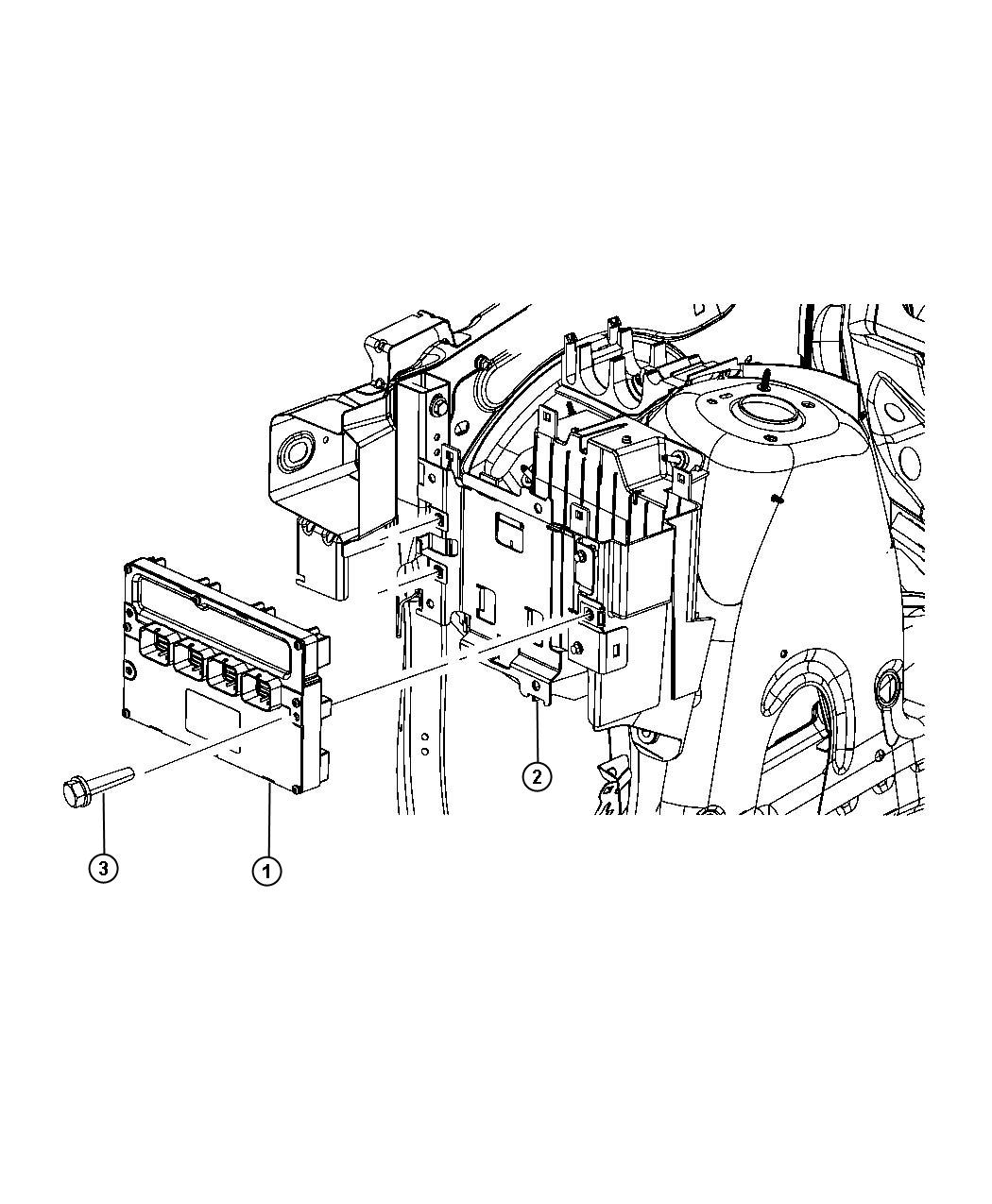 2011 Dodge Module. Powertrain control. Generic. Engine