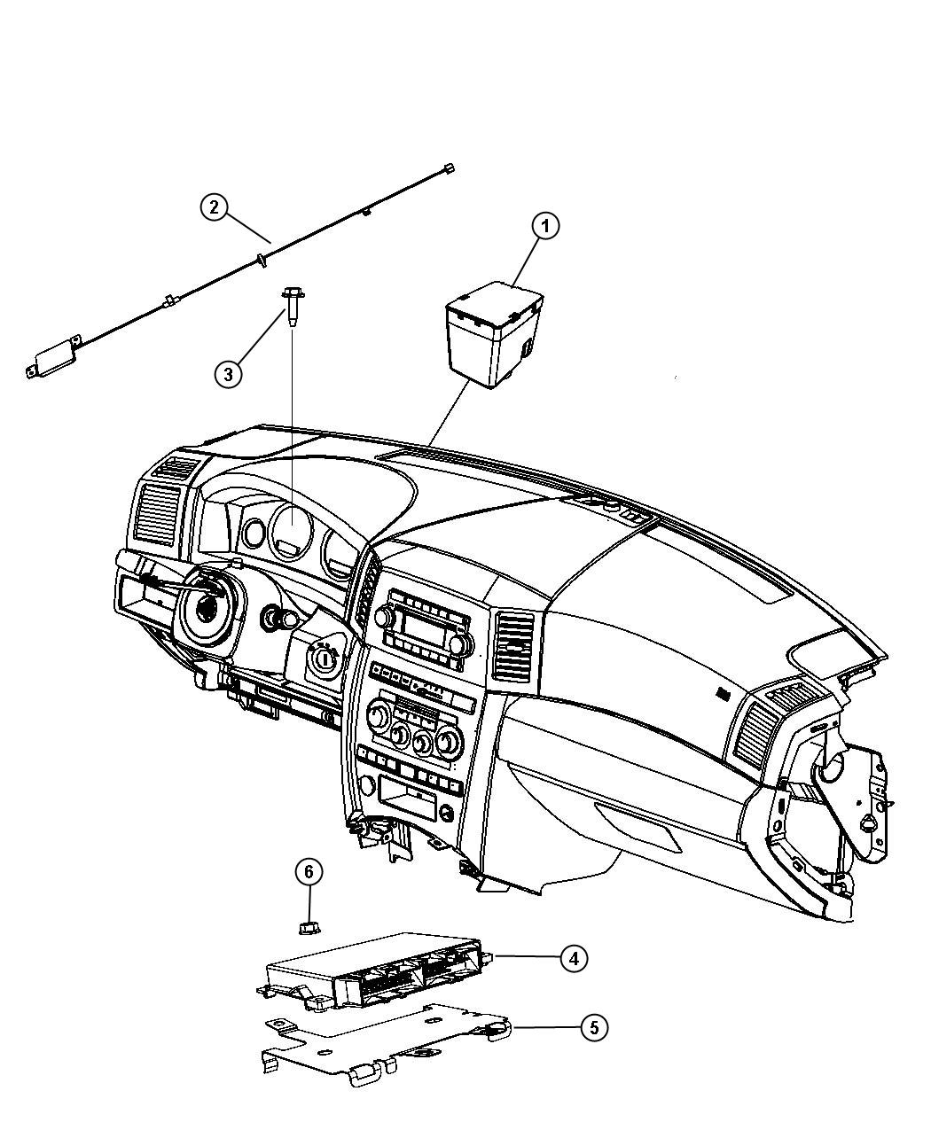 2011 Dodge NITRO Module. Transmission control. After 07/05
