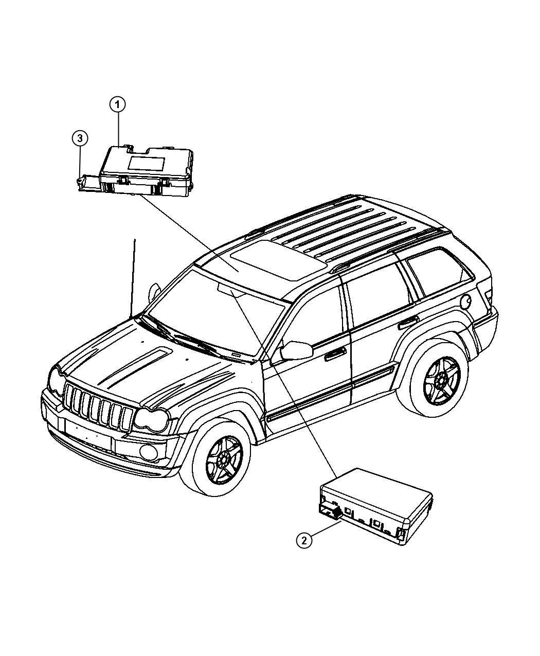 Dodge Durango Module. Rain sensor. Modules, overhead
