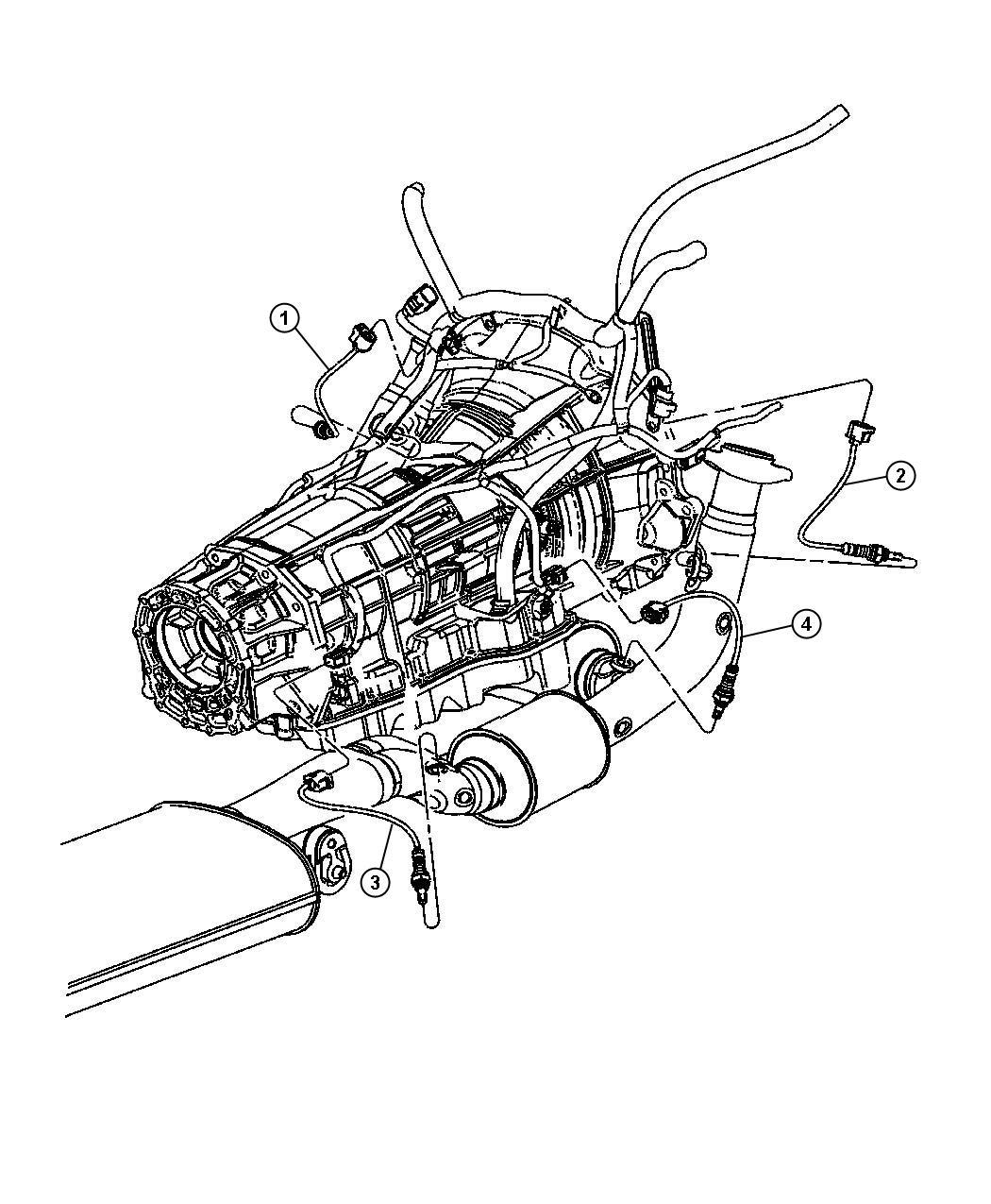 Dodge Durango Sensor Oxygen After Catalyst Before