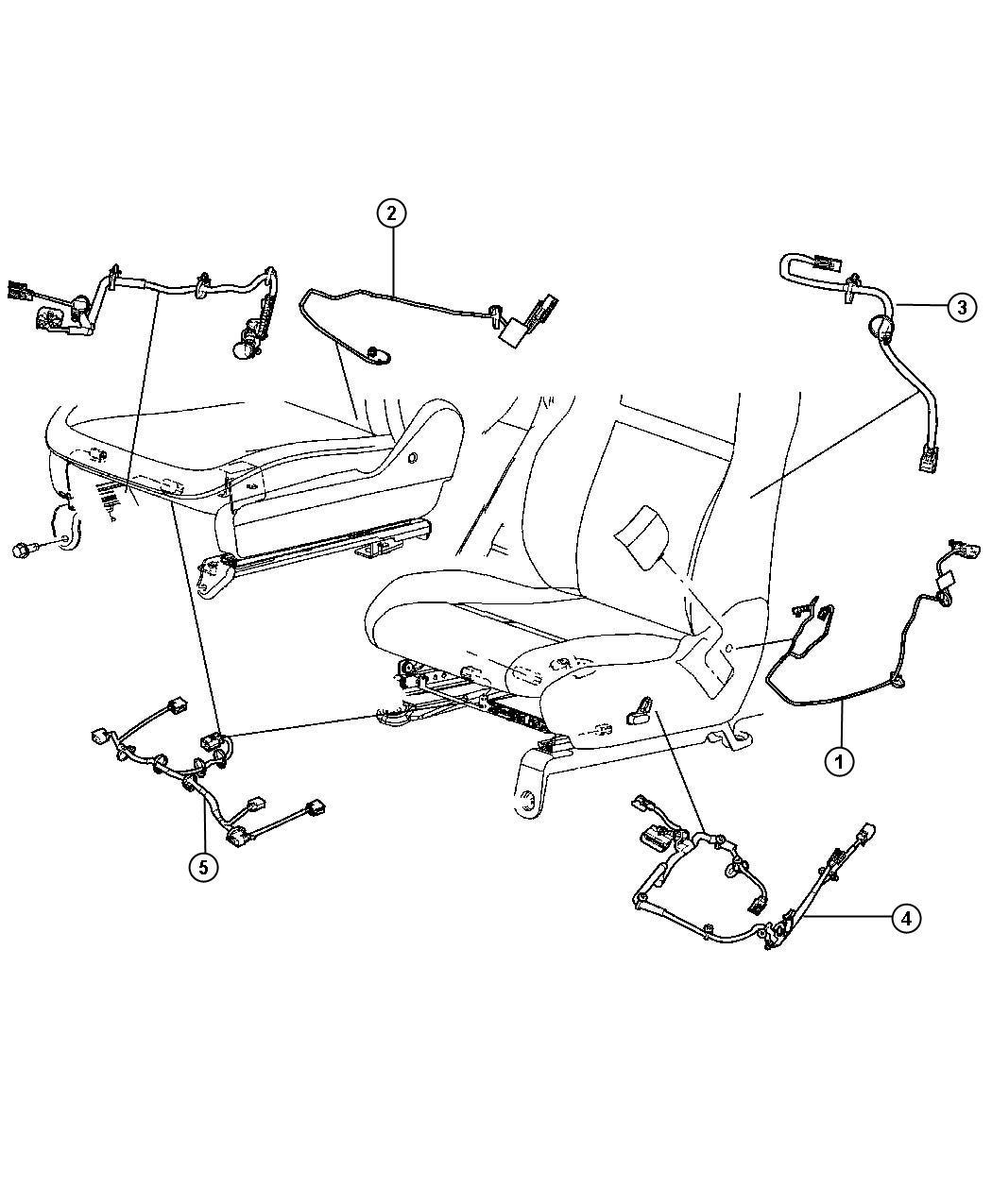 Dodge Durango Wiring. Power seat. Trim: [leather trimmed