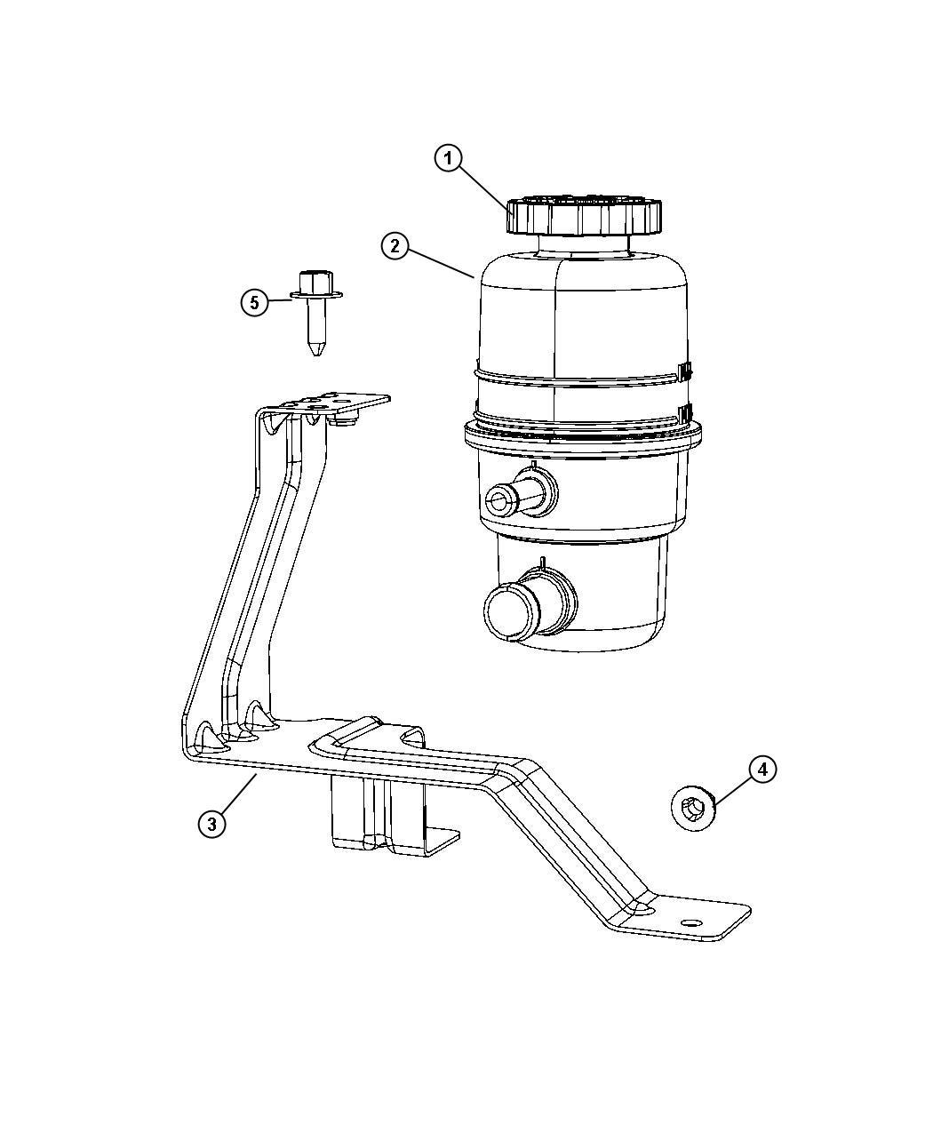 Dodge Nitro Bracket Power Steering Reservoir