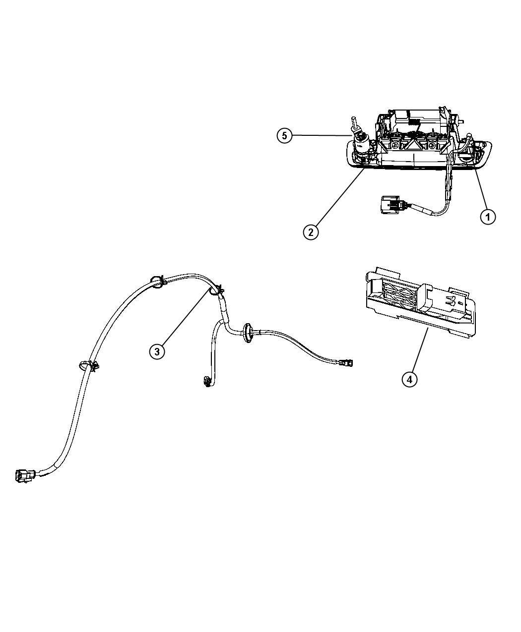 2012 Dodge Ram 1500 Wiring, wiring kit. Tailgate, tailgate