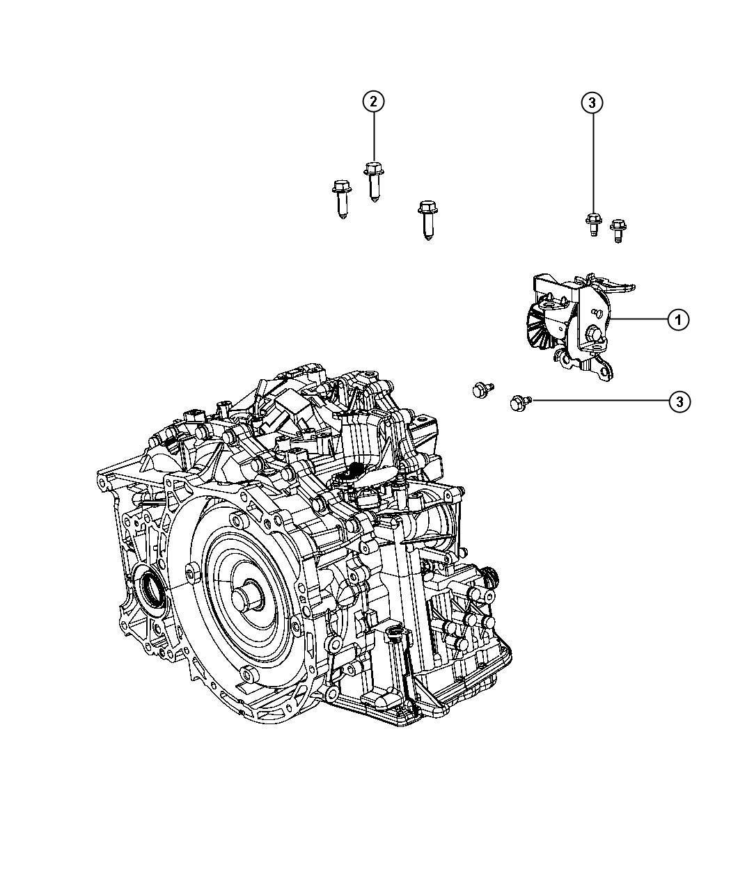 2010 Jeep Patriot Insulator. Engine mount. Left, left side