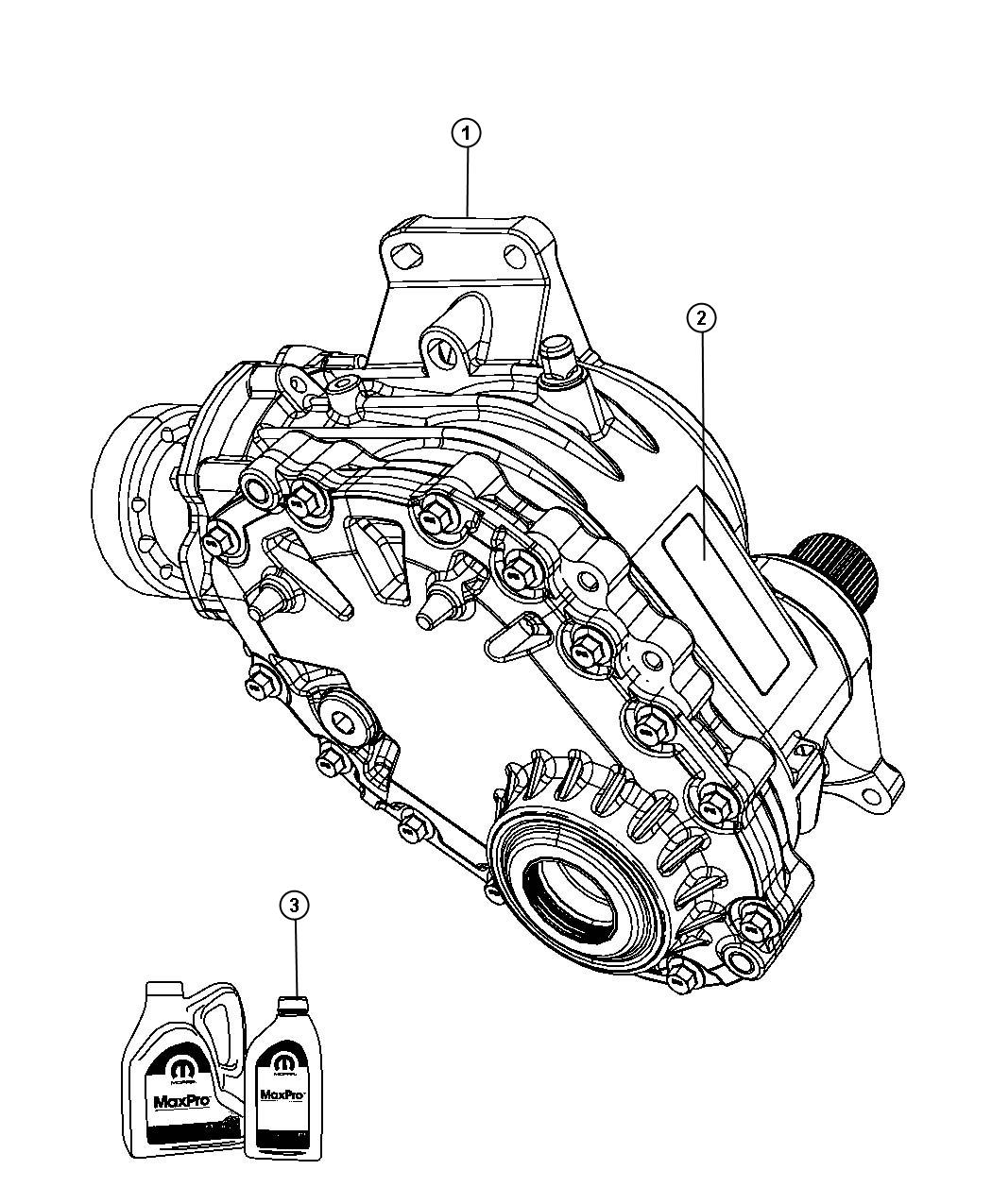 2011 Dodge Journey Power transfer unit. Mounting, awd