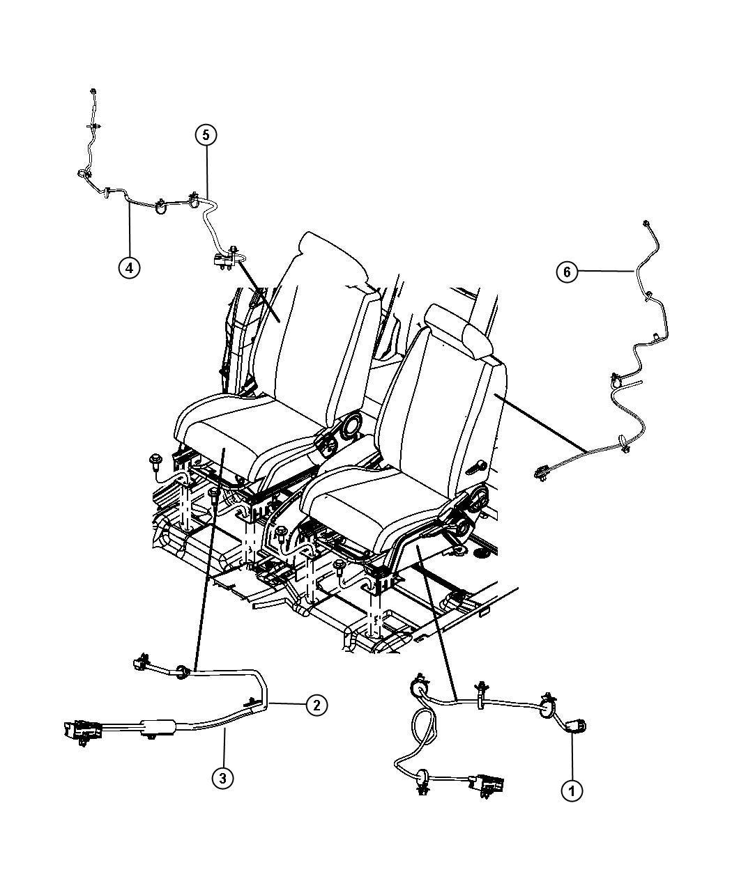 Dodge Journey Wiring. Power seat, seat. Export. Trim