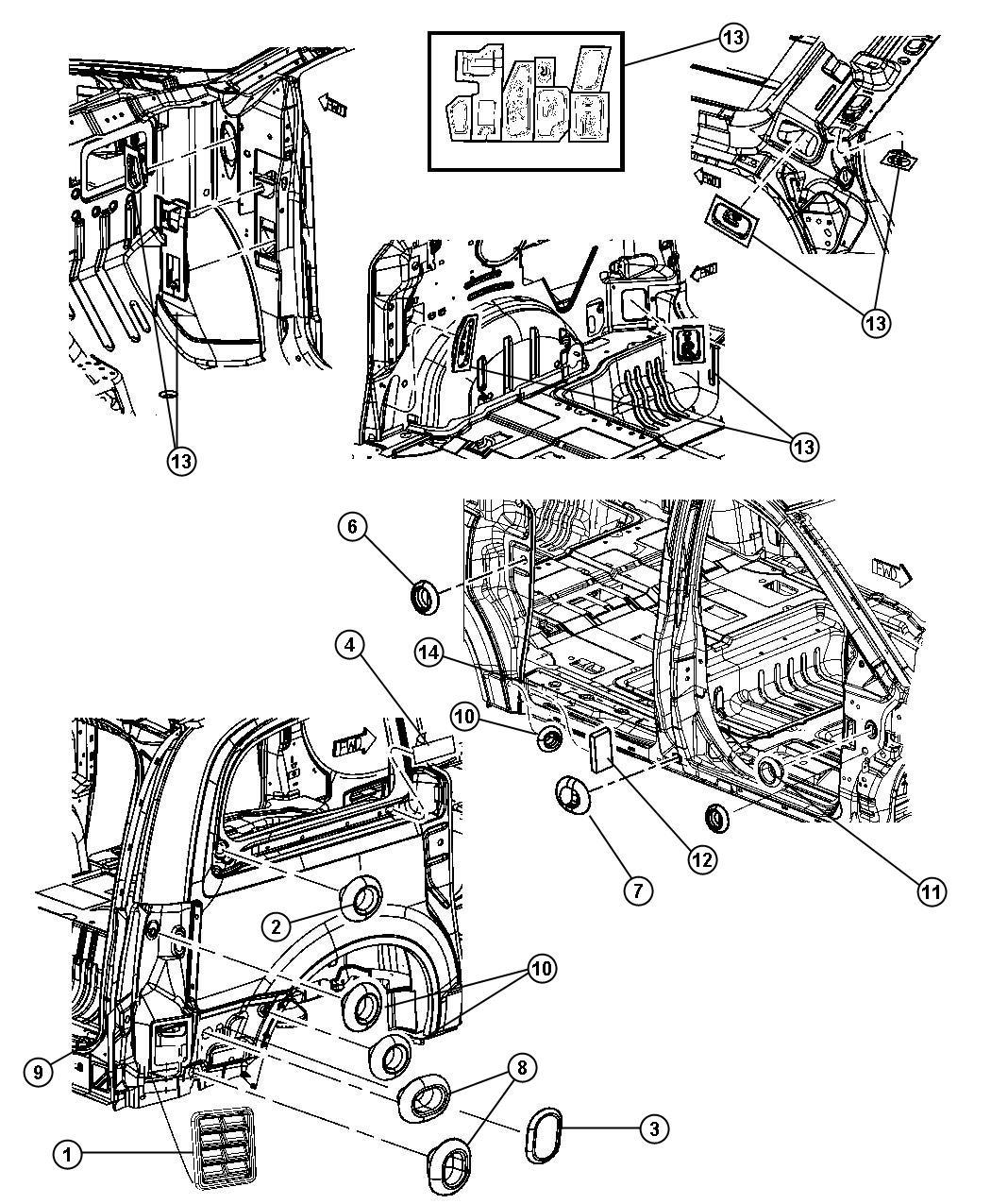 2011 Dodge Grand Caravan Plug. Body. 25.4mm x 38.1mm