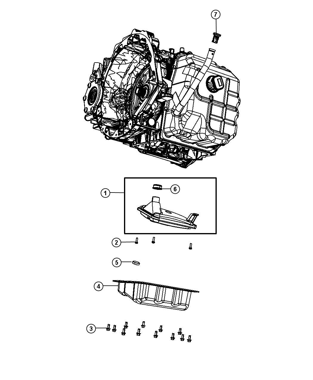 Dodge Grand Caravan Pan. Transmission oil. Cab & chassis