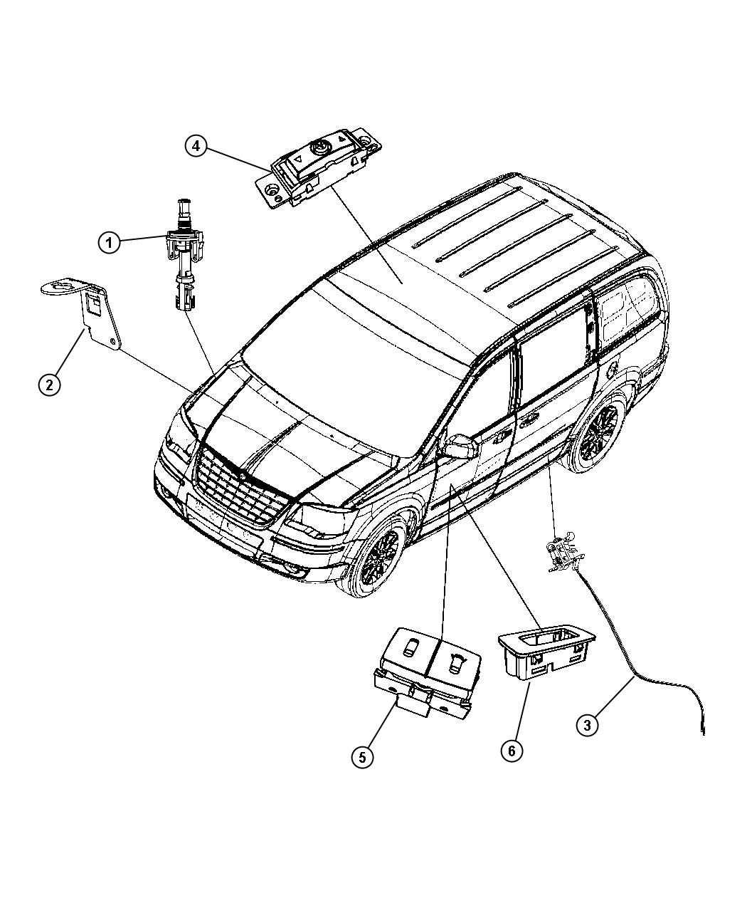 2012 Dodge Grand Caravan Switch. Lift motor, limit
