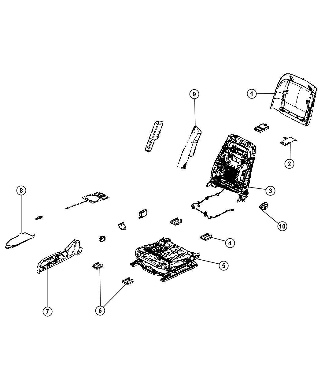 2012 Dodge Challenger Adjuster. Manual seat. [acq], [jps