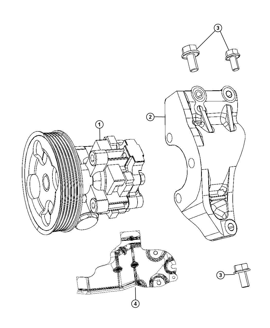 Chrysler Sebring Shield. Power steering reservoir
