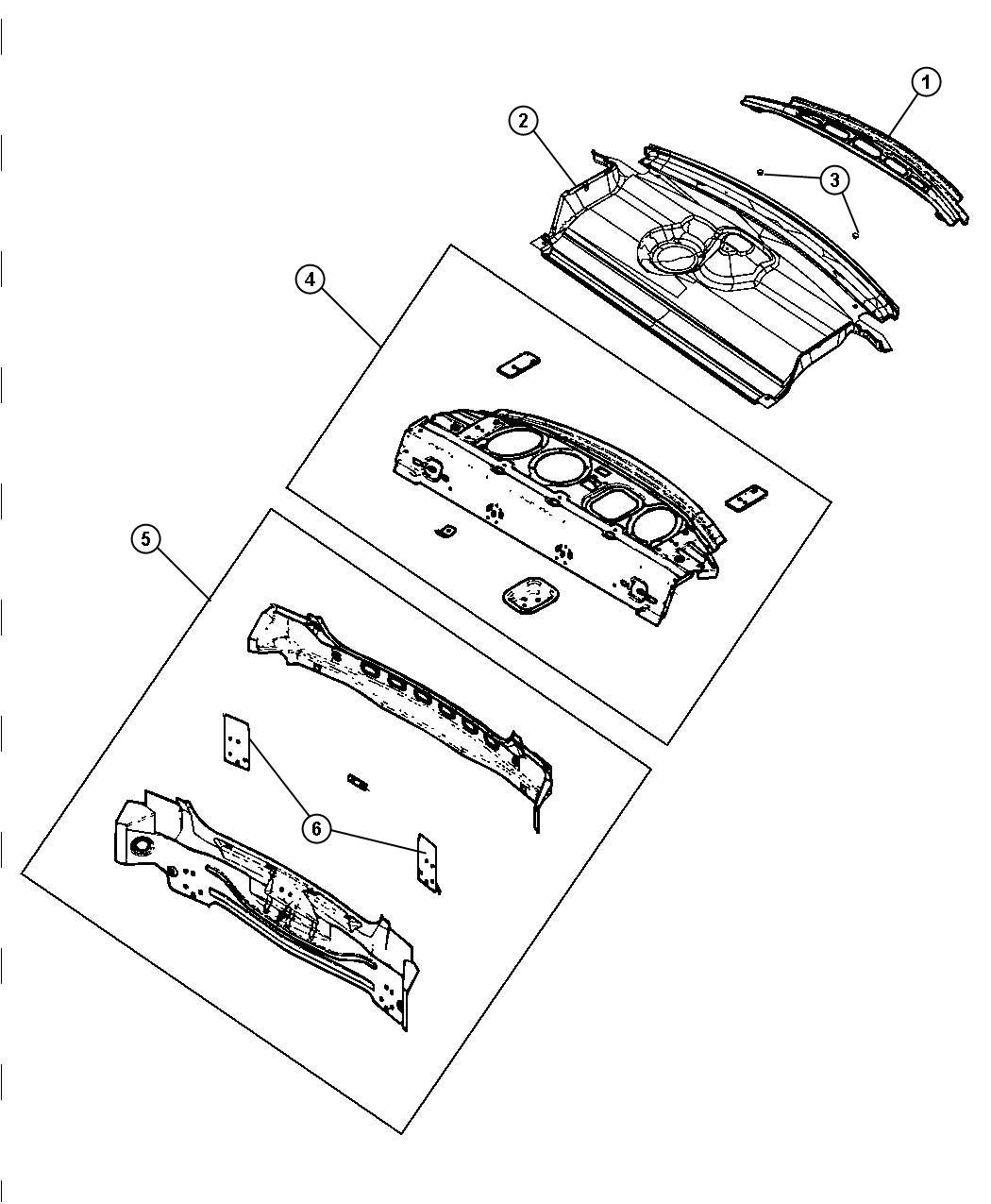 Chrysler 300 Reinforcement Rear Shelf Panel Trim