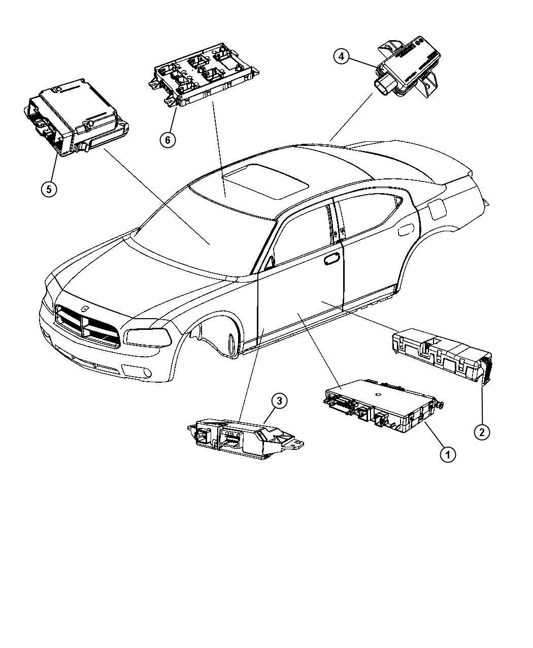 Dodge Charger Module Body Controller Adaptive Xenon
