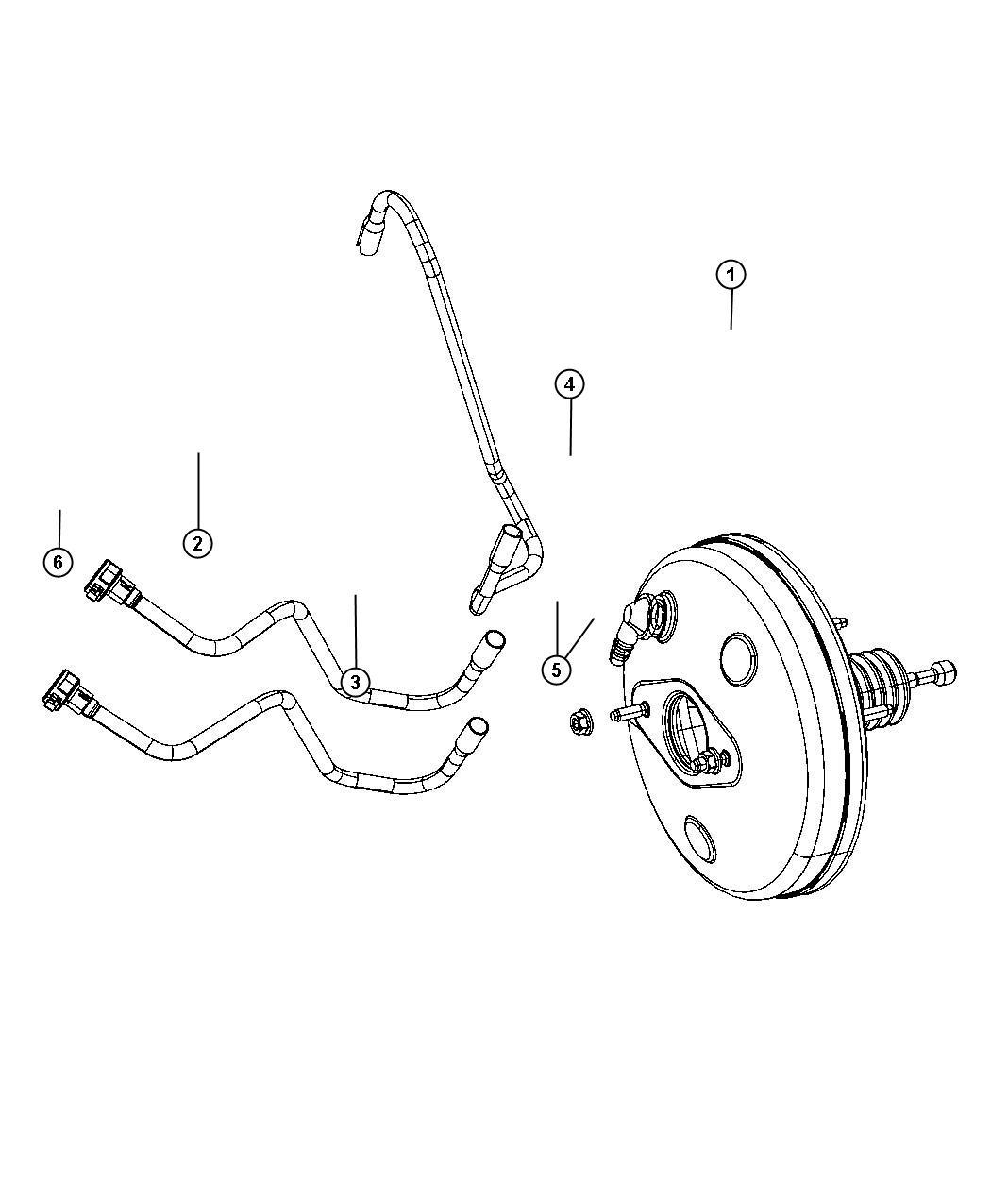 2012 Fiat 500 Booster. Power brake. Wheel, disc, brakes