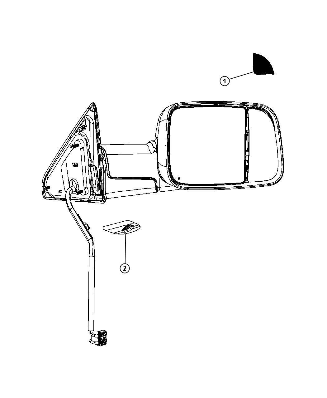 Dodge Ram 2500 Lamp. Turn signal. Right. Mirrors, away
