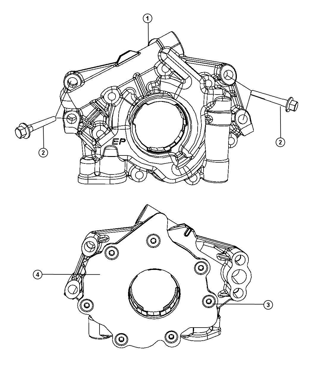 Dodge Challenger Pump. Engine oil. Mds, oiling, hemi