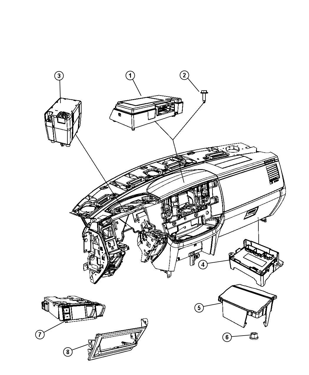 Dodge Ram Module Transfer Case Control Shift