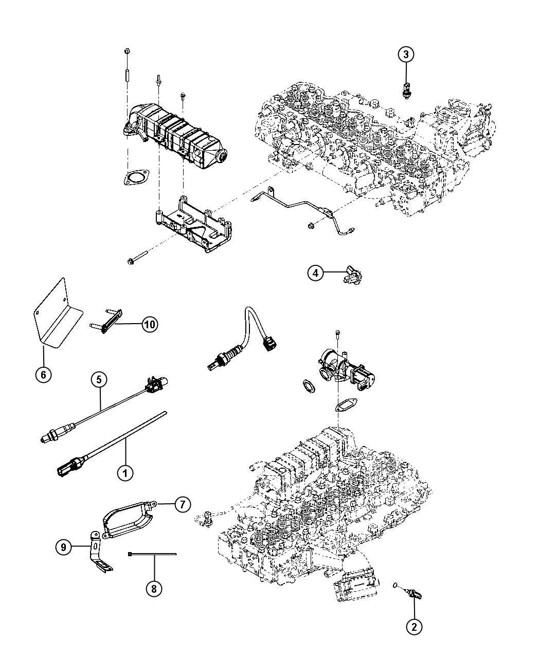 Ram Sensor Egr Temperature Exhaust Temperature