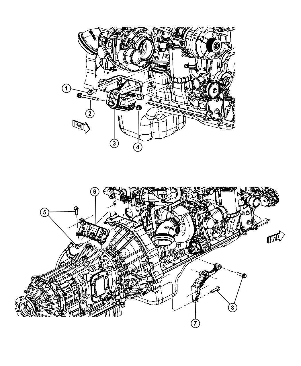 Ram Bracket Engine Mount
