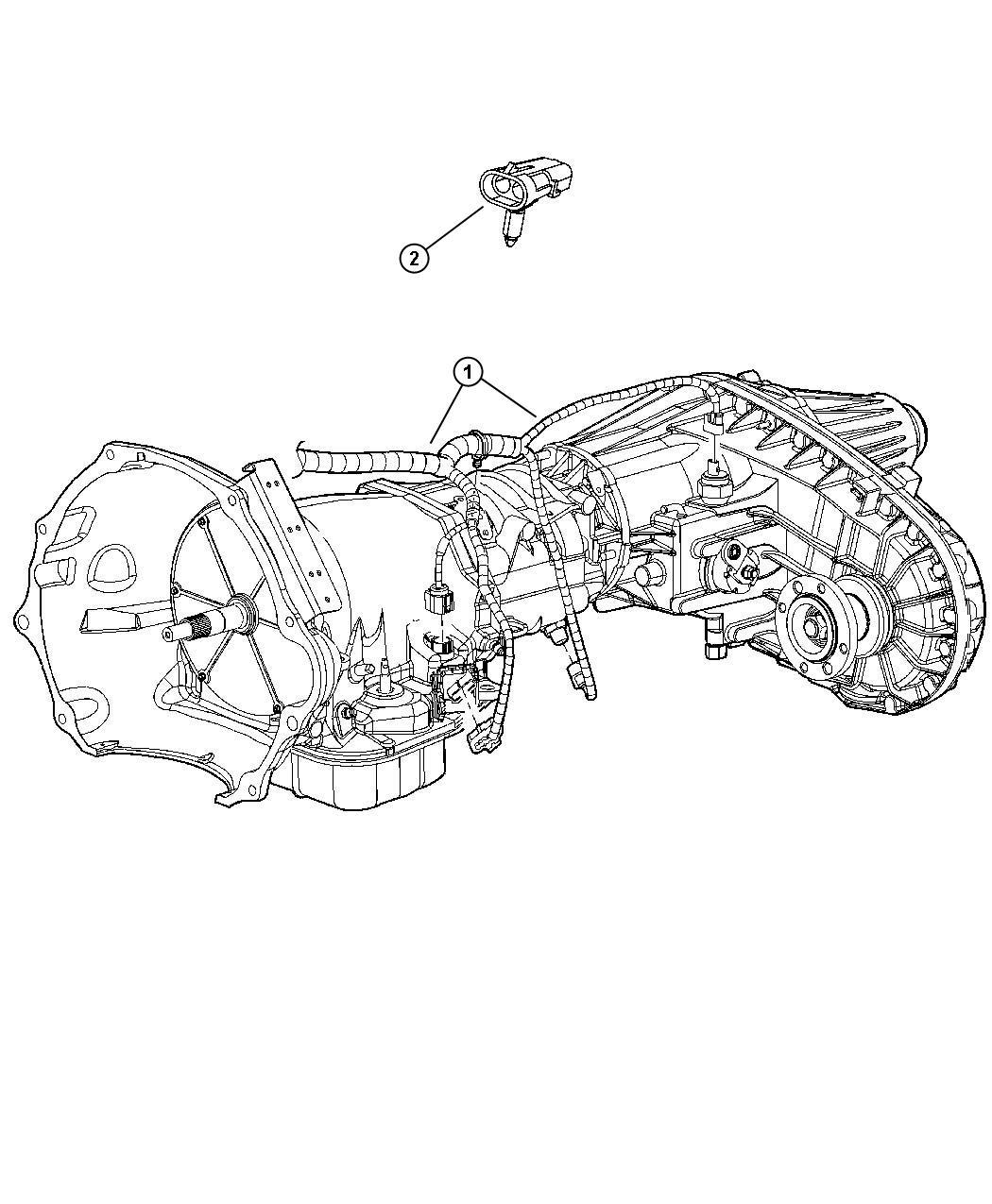 2012 Dodge Ram 3500 Wiring. Transmission. Dual, state