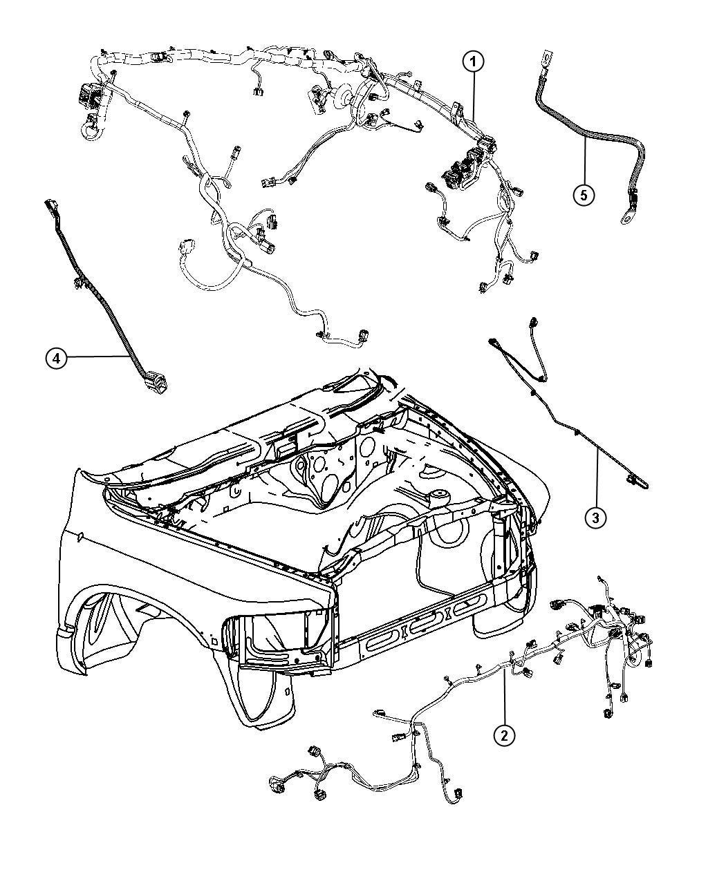 Dodge Ram 1500 Wiring. Front end module. [remote start