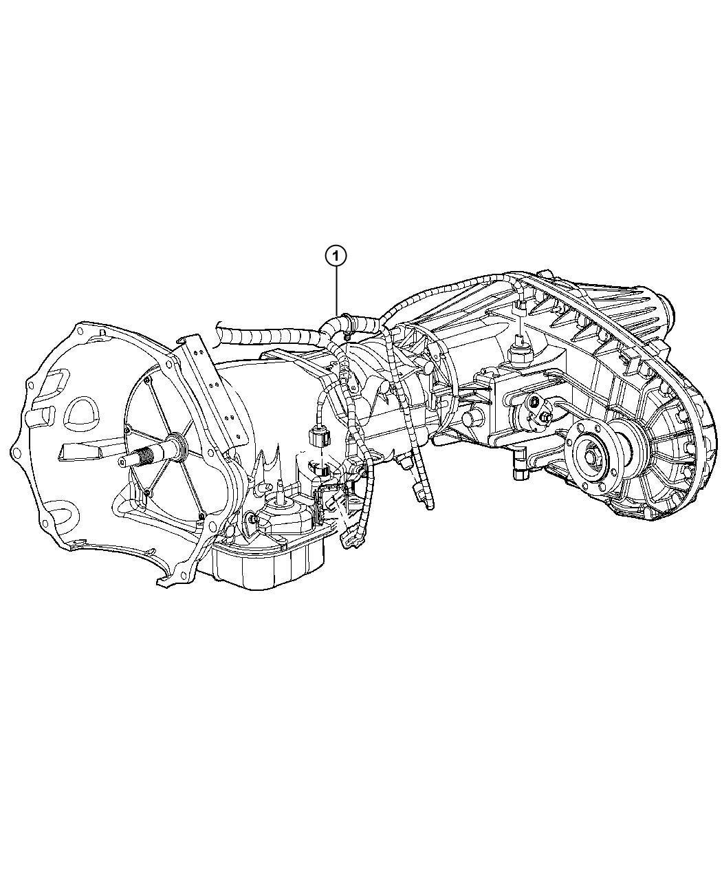 2011 Dodge Ram 2500 Wiring. Transmission. [50 state