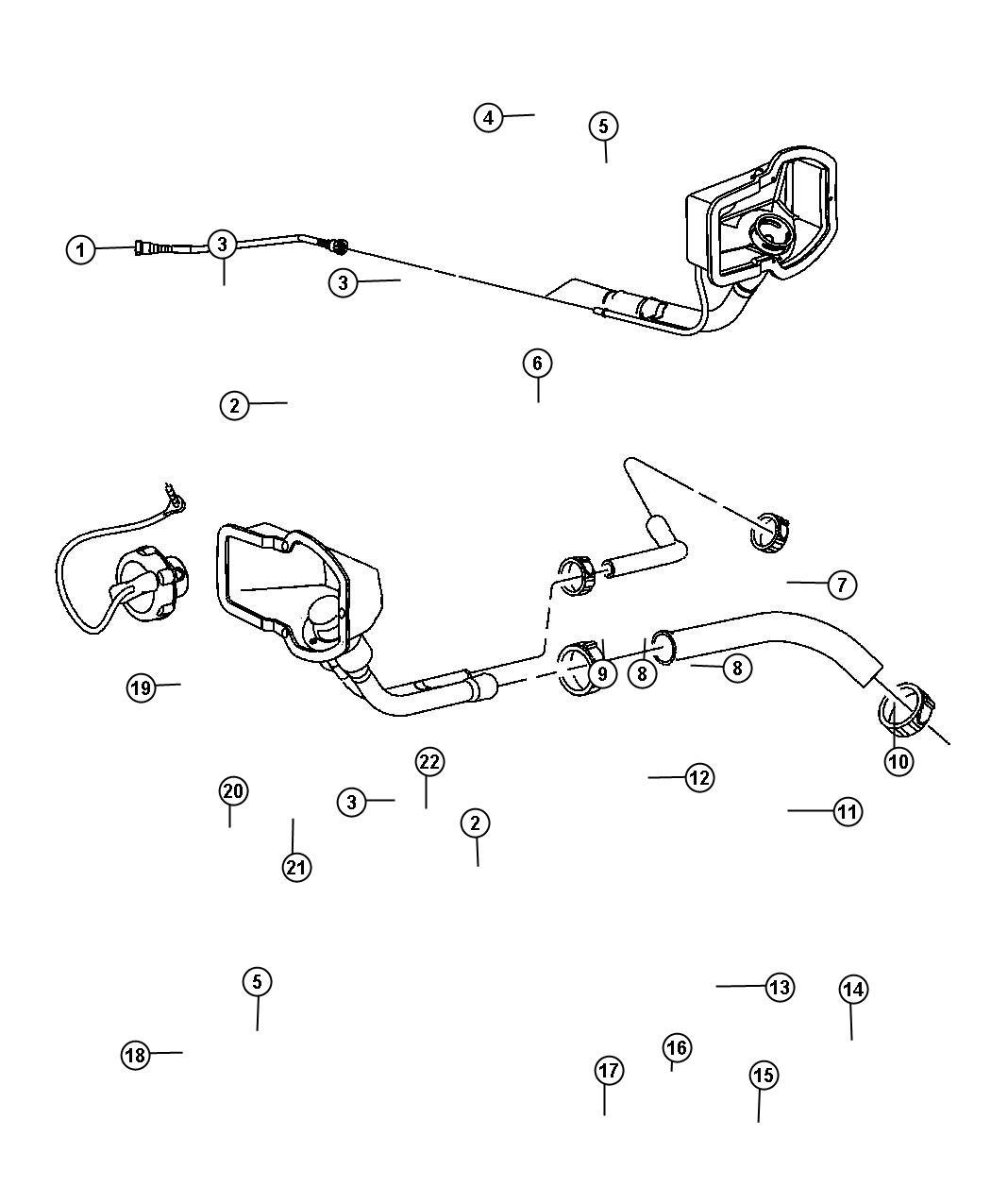 Ram 1500 Hose. Fuel filler. [5.7l v8 hemi cng engine][8