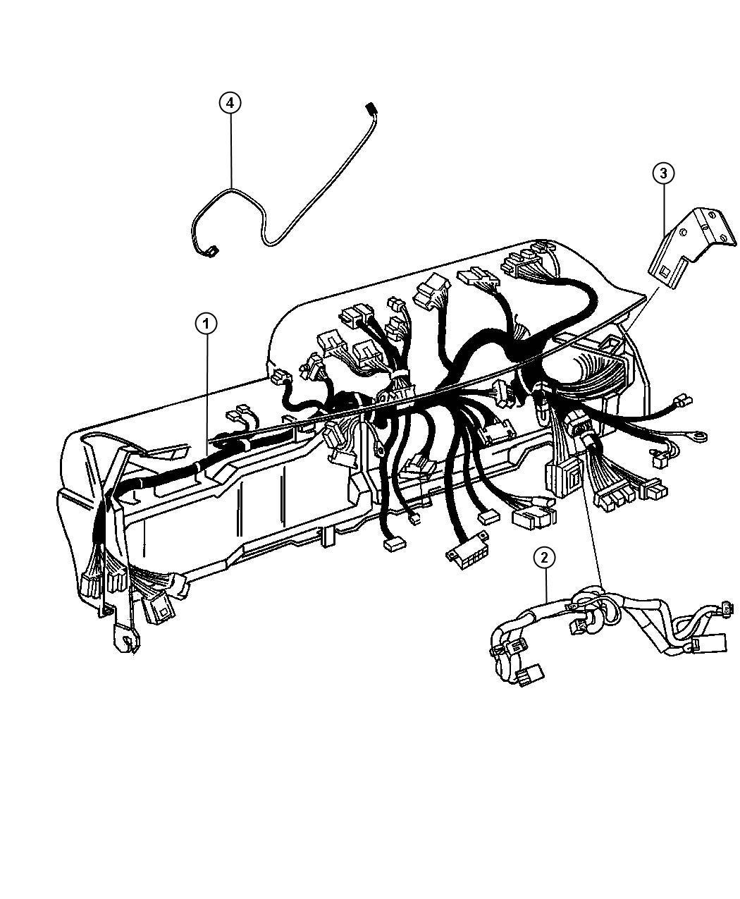 2012 Dodge Ram 3500 Wiring. Instrument panel. [air