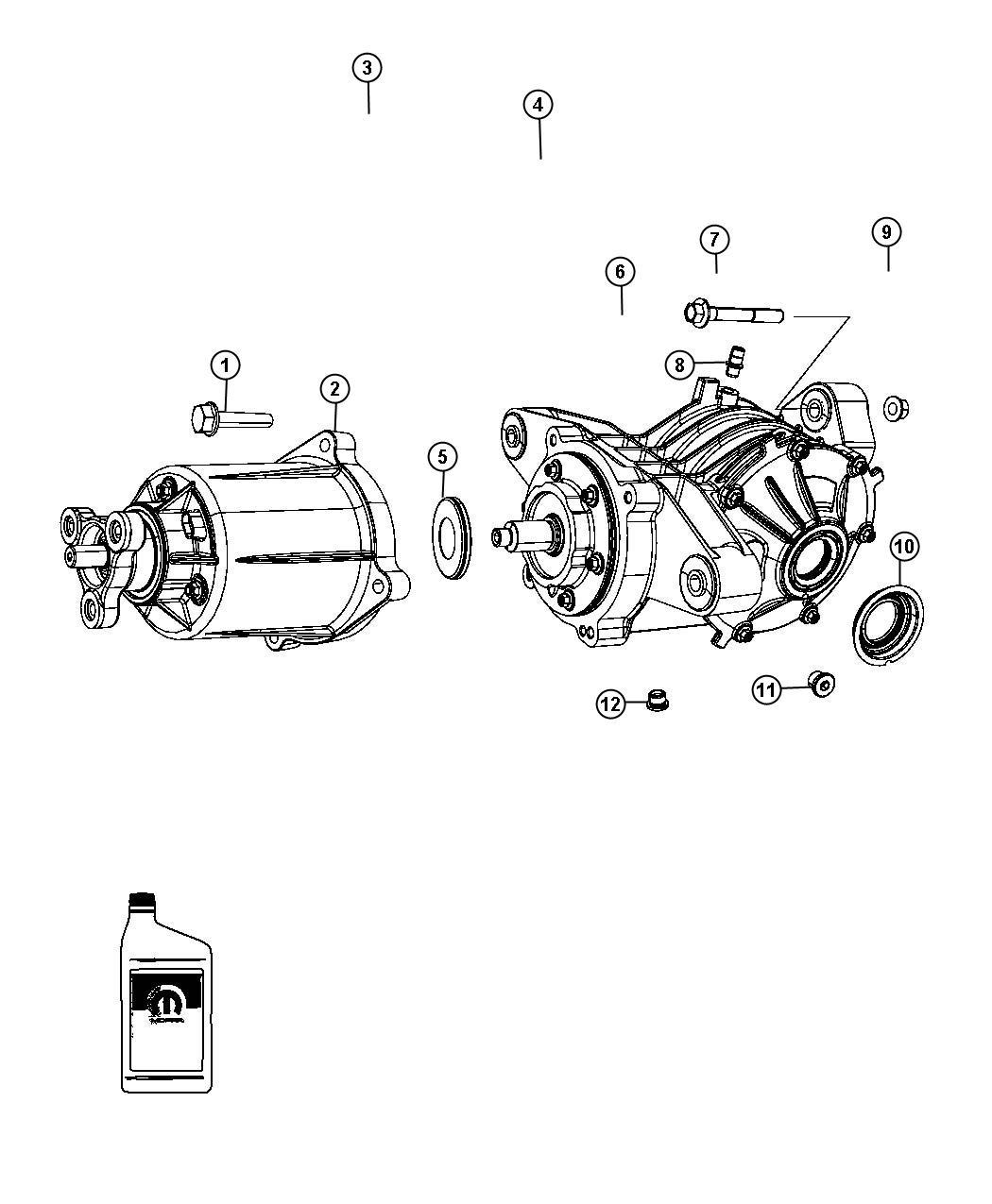 2012 Dodge Journey Bdorc/viscous unit kit. Rear axle. [3