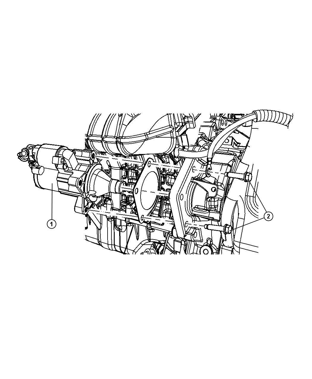 2012 Dodge Journey Starter. Engine. New part for core