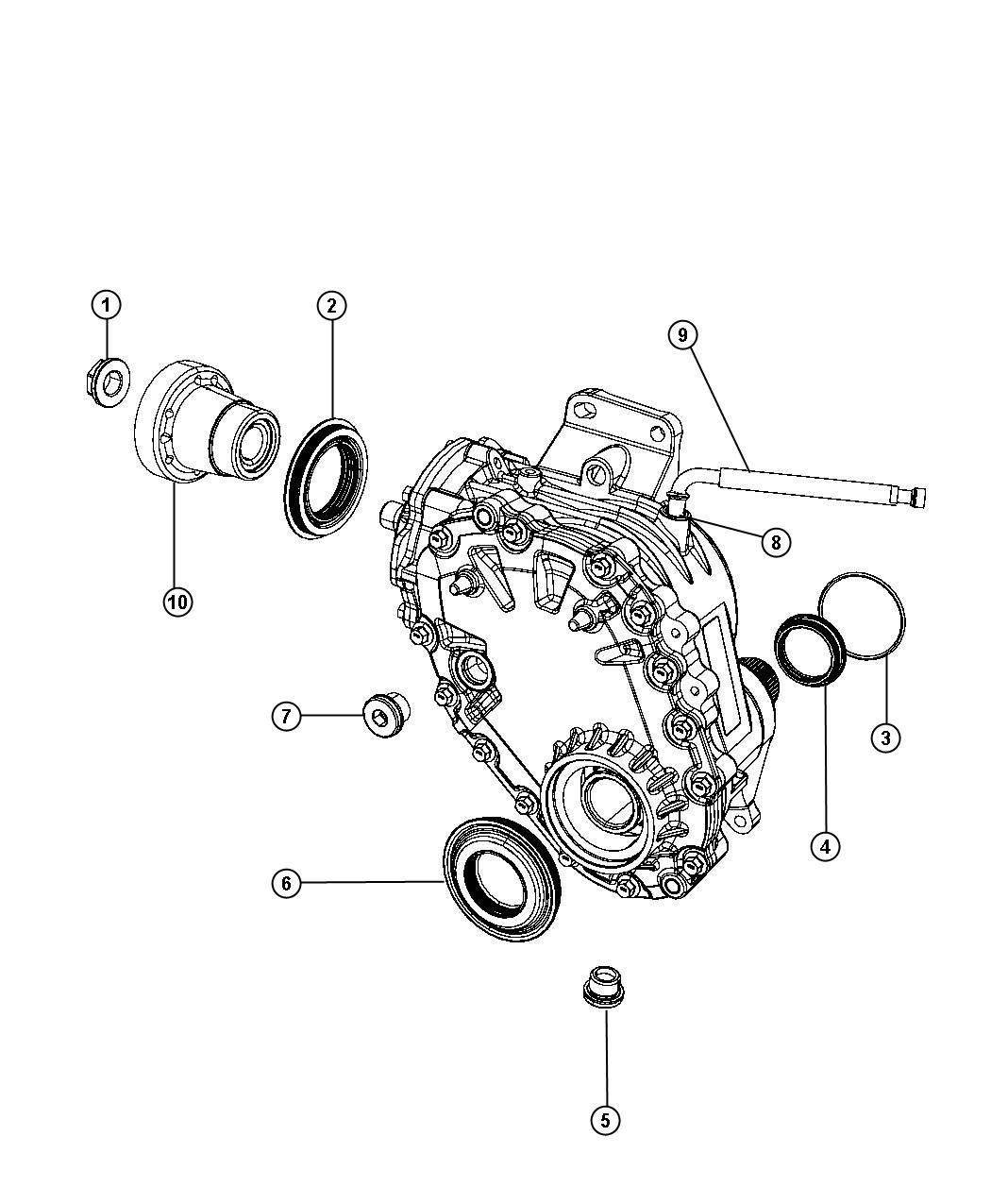 2012 Dodge Journey Hose. Axle vent. Transfer, case, unit