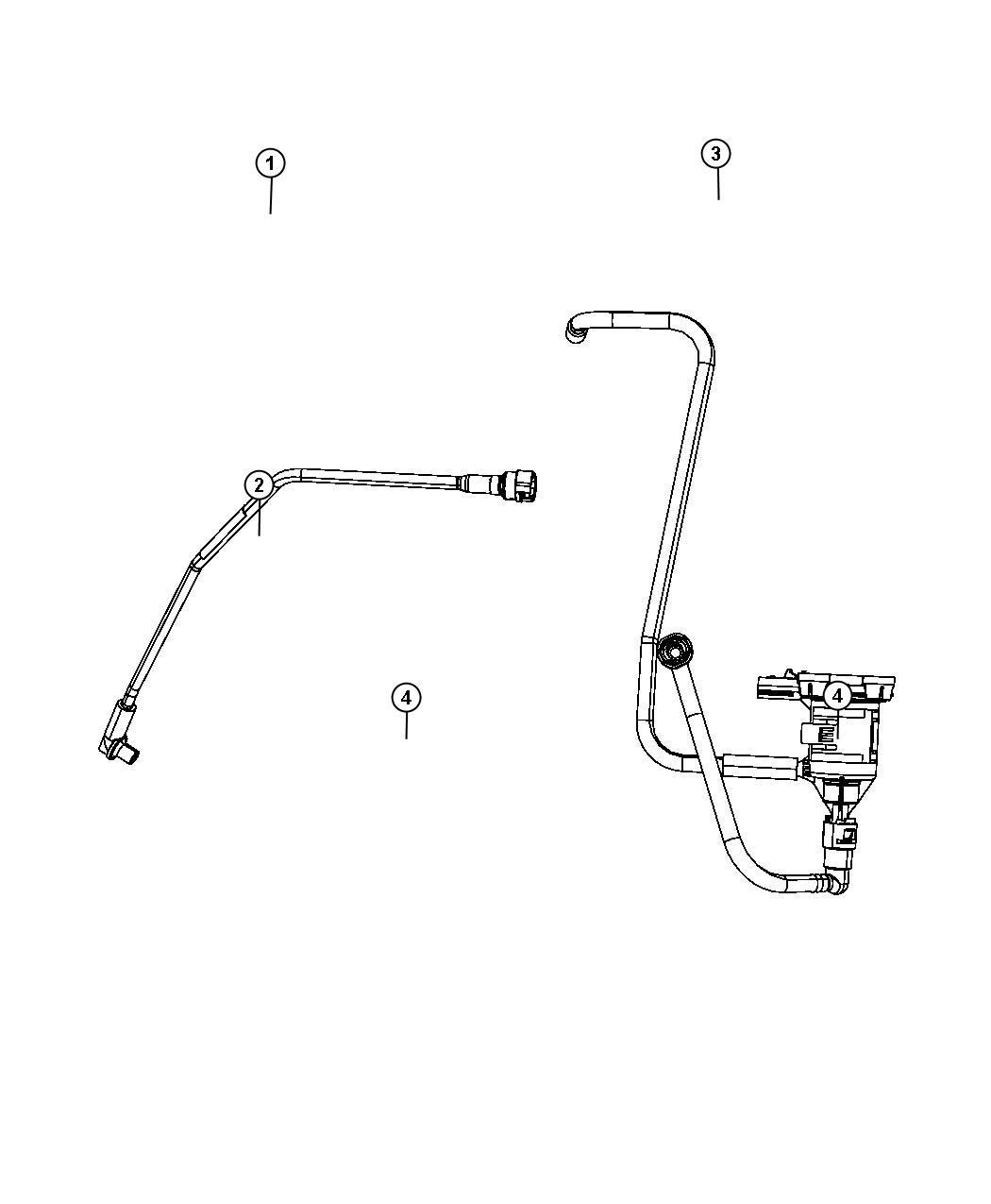 Dodge Journey Harness Vapor Canister Purge Includes Item