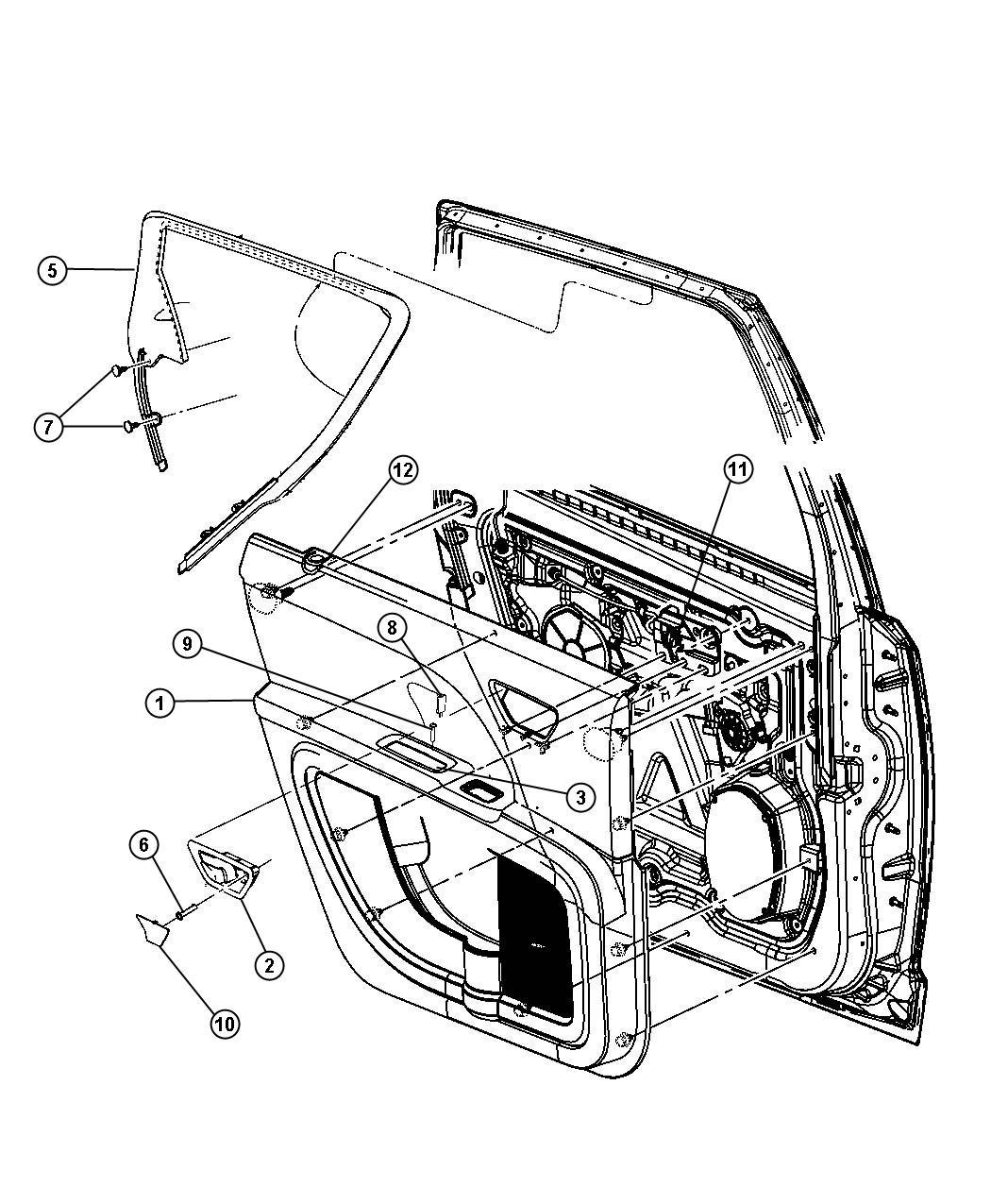 2012 Dodge Journey Grommet. Lock knob. Left, right. Trim