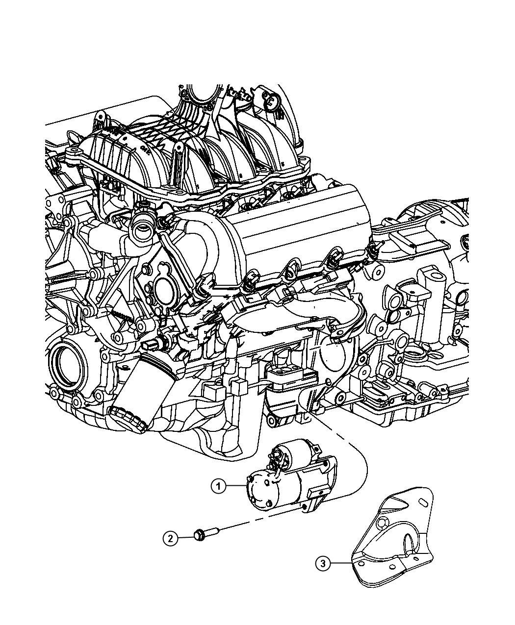 2010 Dodge NITRO Starter. Engine. After 10/22/08