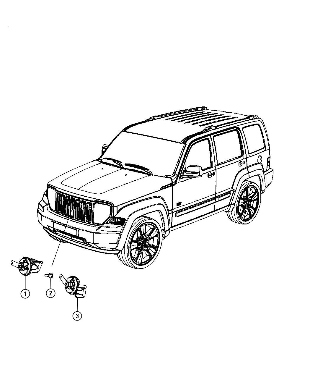 jeep liberty used for horn and bracket high note horns electric dual