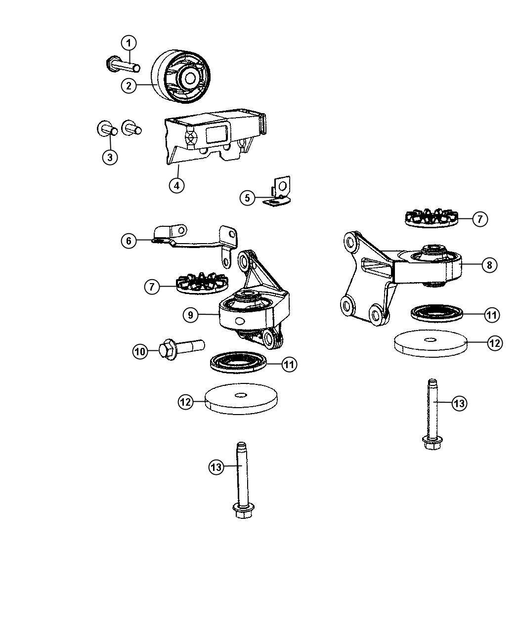 Jeep Patriot Damper Axle Rear Fuel Engine