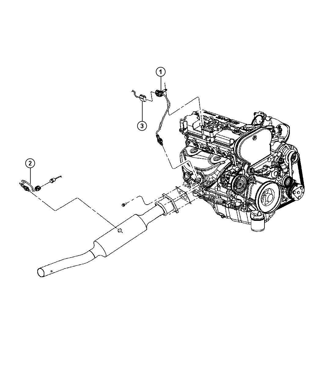 Jeep Patriot Clip. Attaching. Mounting. Oxygen sensor to