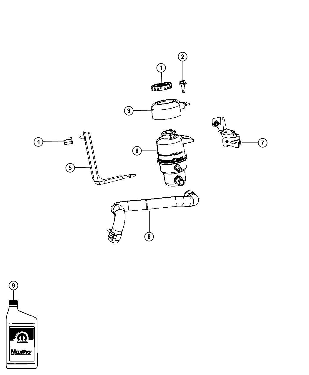 Jeep Compass Reservoir Power Steering Fluid Power