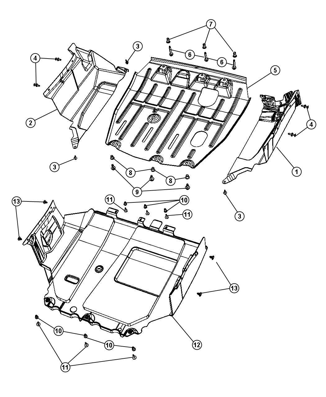 2008 Jeep Compass Shield. Accessory drive. [trans/engine