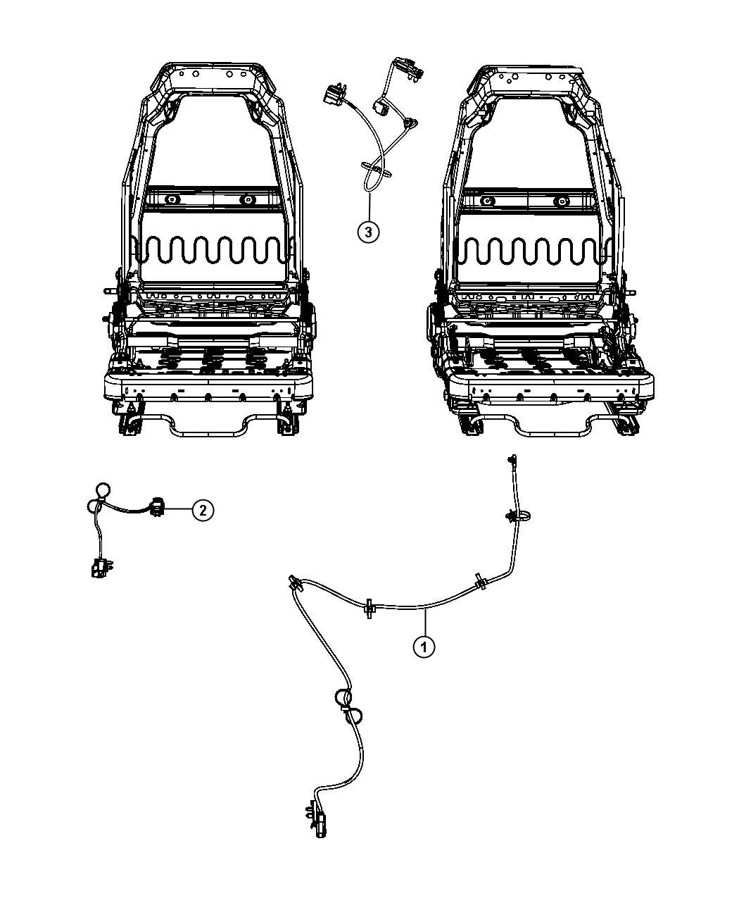 Jeep Wrangler Wiring. Seat. Export. Trim: [cloth lo-back