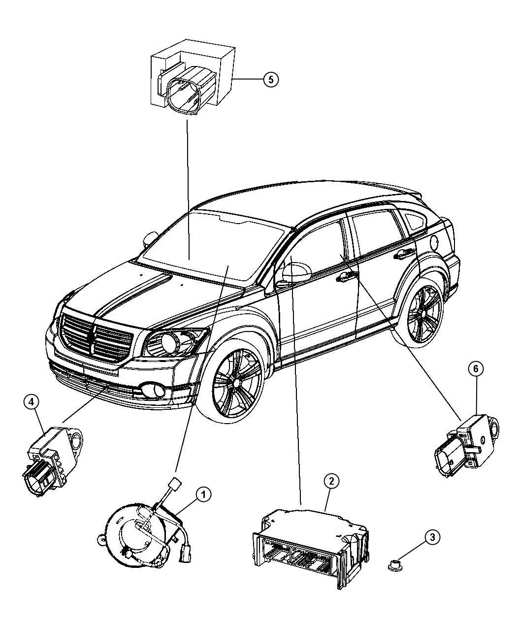 2010 Dodge Caliber Module. Occupant restraint. [cg1, cj4