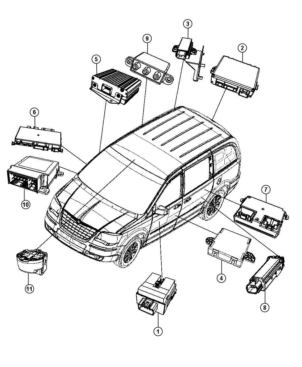 2016 Chrysler Town & Country Module. Rain sensor. Wipers
