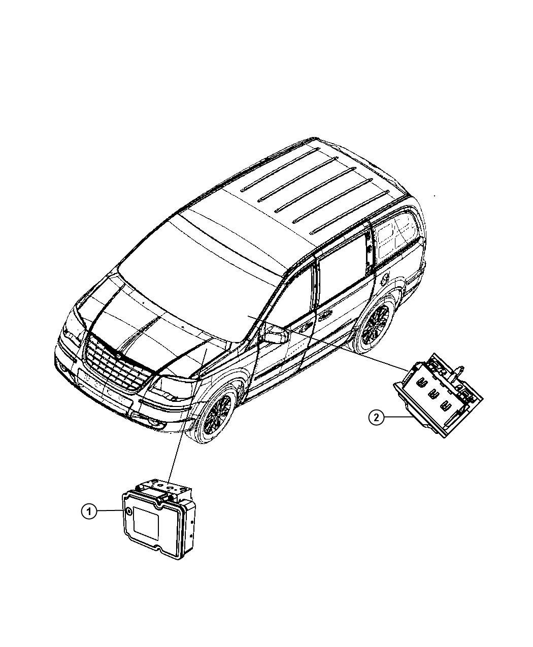 Dodge Grand Caravan Hydraulic control unit, module. Anti